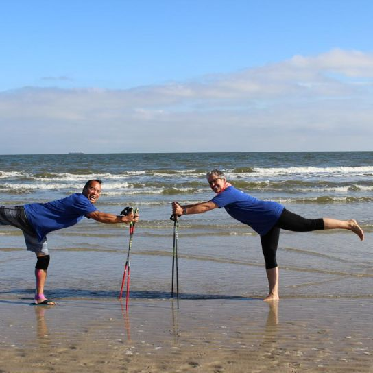 Nordic-Walking am Nordseestrand